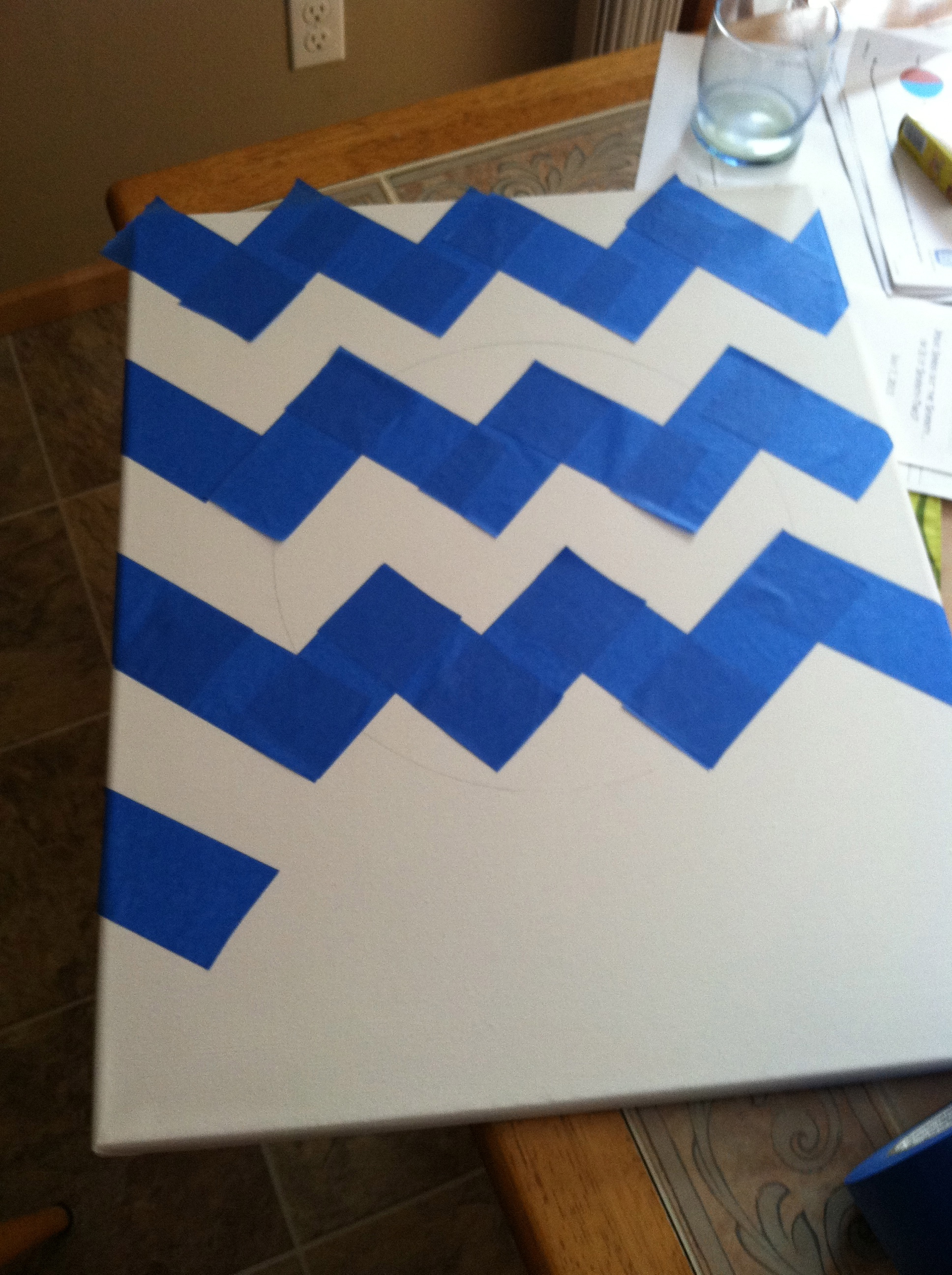 chevron template for painting - diy monogrammed chevron canvas aka how to become southern