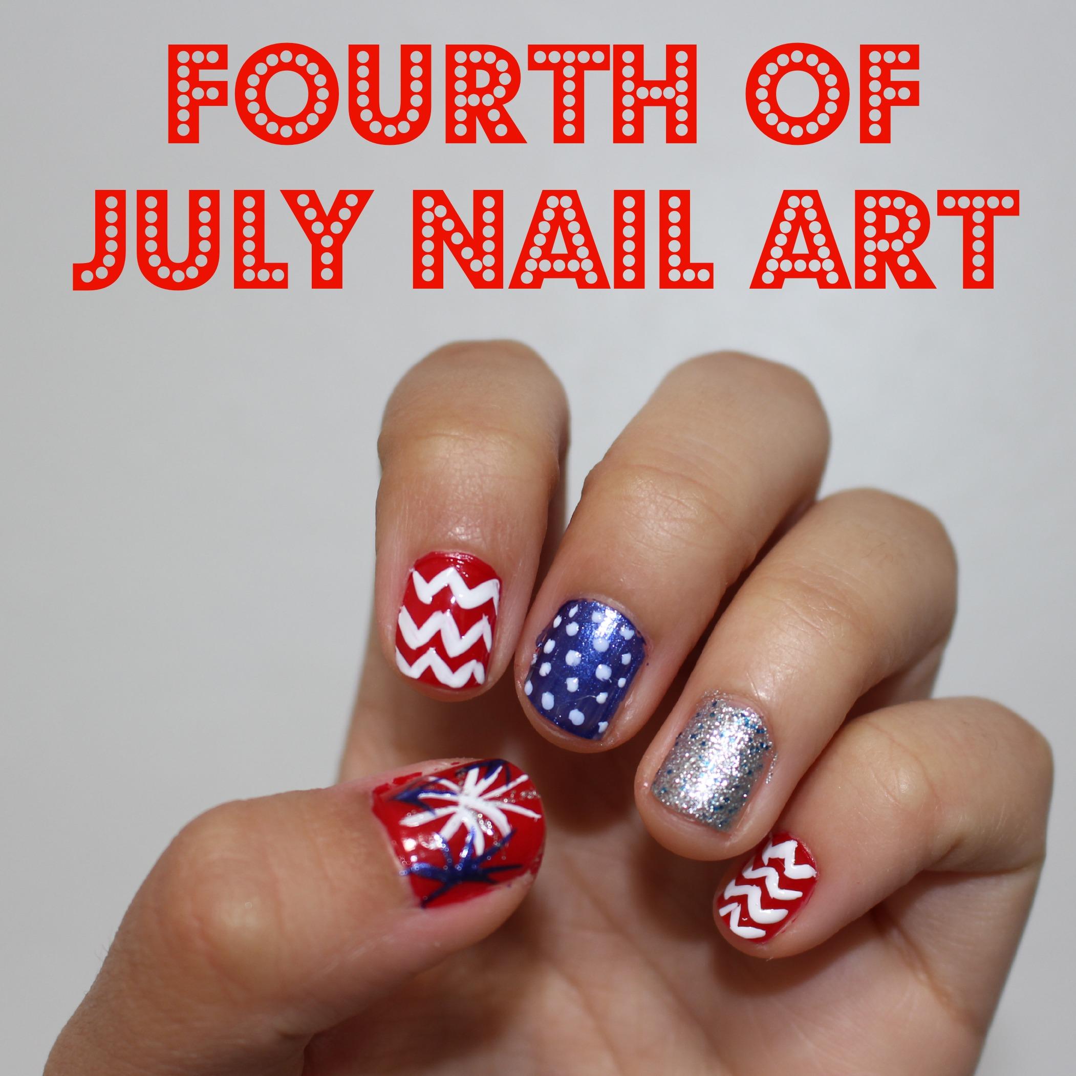 DIY 4th of July Nails – T H E • B L E S S E D • L I F E
