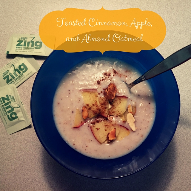 Toasted Cinnamon Almond Apple Oatmeal