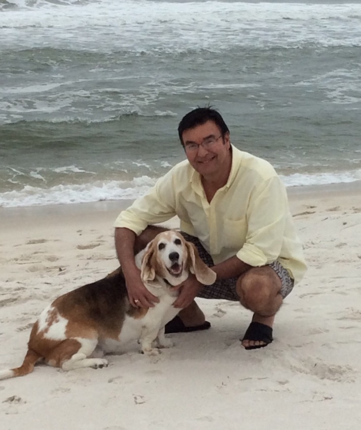Mr. Lee and his dog, Salem!